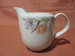 Retro Alföldi tejkiöntő kávés készlethez rózsa-írisz mintával