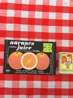 Retro üdítős szörpös üvegcímke - Narancs Juice - Zengő Gyöngye MGTSZ - Bogád