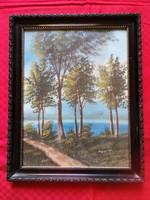 Folyópart-akvarell