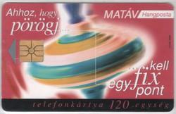 Magyar telefonkártya 0278  1998 Búgócsiga GEM 1     60.000 Db-os