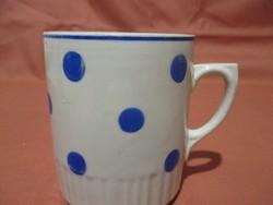 Kék pöttyös Zsolnay bögre, csésze