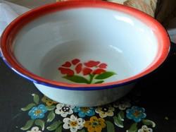 Régi retro zománcozott tányér