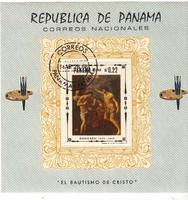 Panama emlékbélyeg blokk 1968
