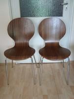 2 modern dizájn szék Arne Jacobsen stílus
