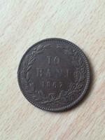 Románia 10 Bani 1867
