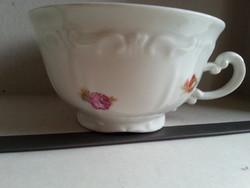 Zsolnay   virág mintás csésze