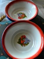 Régi retro zománcozott tányér 6 db
