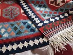 100% gyapjú, iráni Qashqai kilim, kézzel szőtt szőnyeg