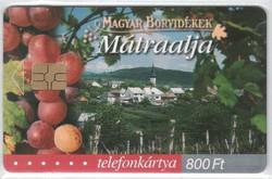 Magyar telefonkártya 0325  2003    Magyar borvidékek Mátraalja   100.000 Db-os