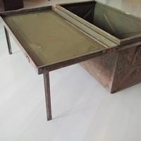 Vintage vas láda asztal industrial loft design