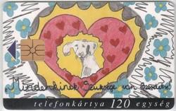 Magyar telefonkártya 0308  1999 Szeretet GEM 1     43.000 Db-os