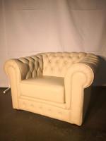 A115 Eredeti chesterfield bőr fotel