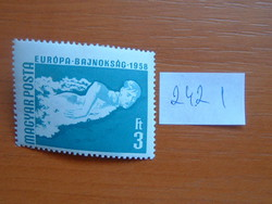 MAGYAR POSTA 3 FORINT 1958-as nemzetközi birkózás, úszó- és asztalitenisz-Európa-bajnokság 242 I