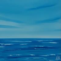 OCEAN I. absztrakt festmény - Kuzma Lilla