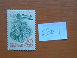 MAGYAR POSTA 20 FILLÉR 1958. évi légiposta - Repülőgépek 250 I