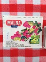 Retro üdítős szörpös üvegcímke - Málna szörp - Zengő Gyöngye MGTSZ - Bogád