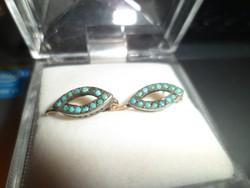 Antik türkizes fülbevaló