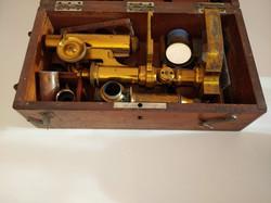 Reichert, Bennogasse, bécsi antik mikroszkóp