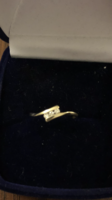 14 karátos arany gyűrű,gyémántokkal!