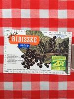 Retro üdítős szörpös üvegcímke - Ribiszke szörp - Zengő Gyöngye MGTSZ - Bogád