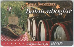 Magyar telefonkártya 0321  2003    Magyar borvidékek Balatonboglár GEM 7   15.000 Db-os