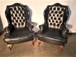 A104 Antik chesterfield füles bőr fotelek
