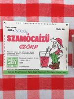 Retro üdítős szörpös üvegcímke - Szamócaízű Eper szörp üditő - Zengő Gyöngye MGTSZ - Bogád MSZ