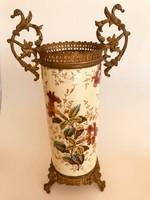 19.sz-i francia fajansz váza
