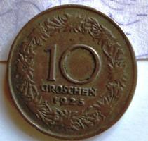 10 groschen  1 db  1925 kiadás