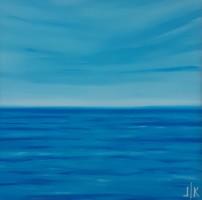 OCEAN II. absztrakt festmény - Kuzma Lilla