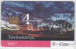 Magyar telefonkártya 0304  2008 június A levegő      15.000 Db-os