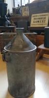 Olajos kanna, régi bádog petróleumos kanna, 10 literes