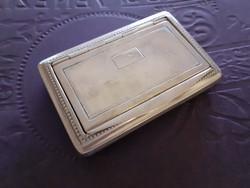 Régi alpakka dózni dobozka monogramos szelence
