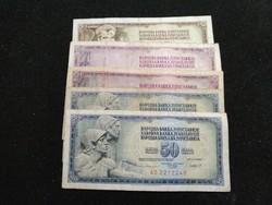 5 darab Jugoszláv Dínár