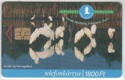 Magyar telefonkártya 0341  1999 Fertő-Hansági nemzeti park   50.000  Db-os