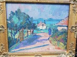Kövesi Albi (1900-1992?) Balatoni kertek