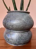 Pünkösti Gabriella keramikus művész  türkiz dupla hasas hamis kaspója