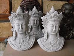 Buddha szobrok Shiva nő 30cm kő Fagyálló műkő szobor Keleti Japán kertépítő elem