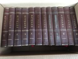 Szikra - I. V. Sztálin művei 2-13. - 12 darab kötet könyv