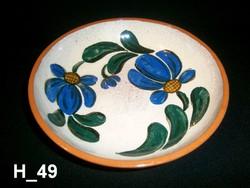 Kézzel festett kerámia tálaló vagy pogácsás tál