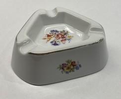 Hollóházi festett porcelán hamutál