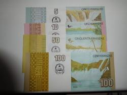 Angola 5-10-50-100 kwanza sor 2012 UNC