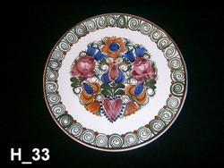 MZ Ausztria kézzel festett kerámia falitál, fali tányér 25 cm átmérő