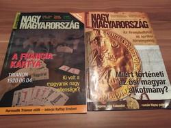 Nagy Magyarország Történelmi magazin, 2009. júniusi és decemberi számok, egyben eladó
