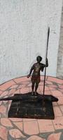 Sàrkányölő Szent György Bronz szobor,sàrkàny làndzsa,