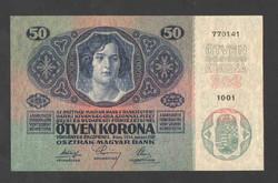 50 korona 1914. Bélyegzés nélküli!! UNC!! RITKA!!