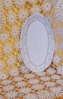 Apró rozsaszín virágos Alföldi pecsenyés tál