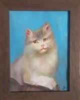 Macska (porpasztell) kép