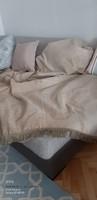 Ágytakaró francia ágyra - antik hatású szövet