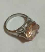 Swarovski köves rozsdamentes női  gyűrű, nagyméretű.